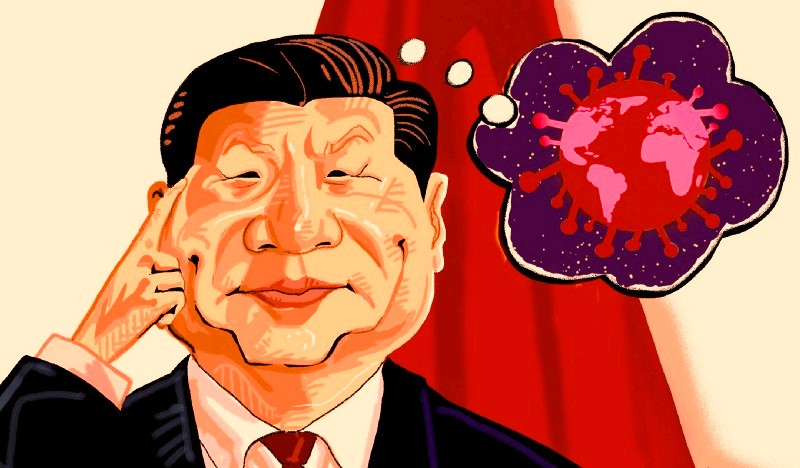 Xi Jinping with Globe in red