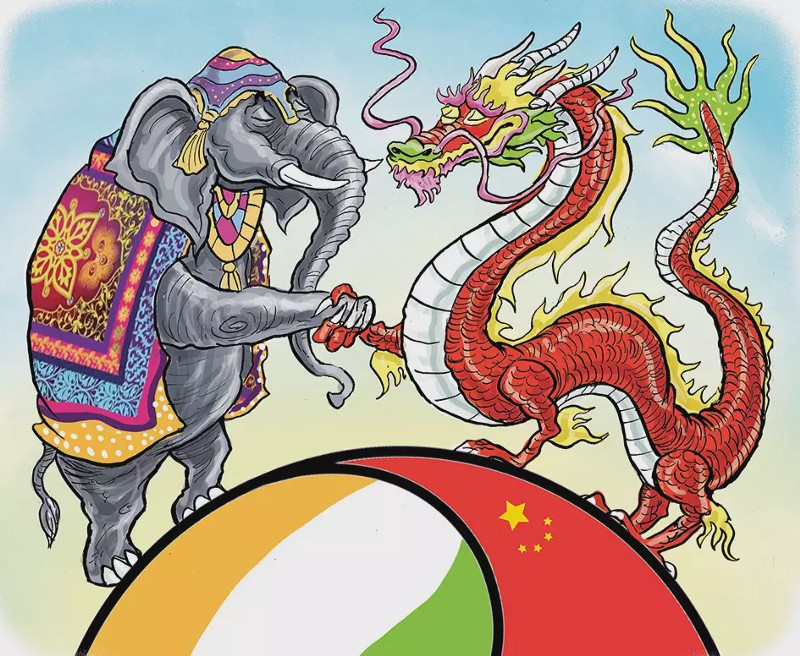 Elephant and Dragon